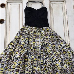 Girls From Savoy Anthro midi dress banana fluffy